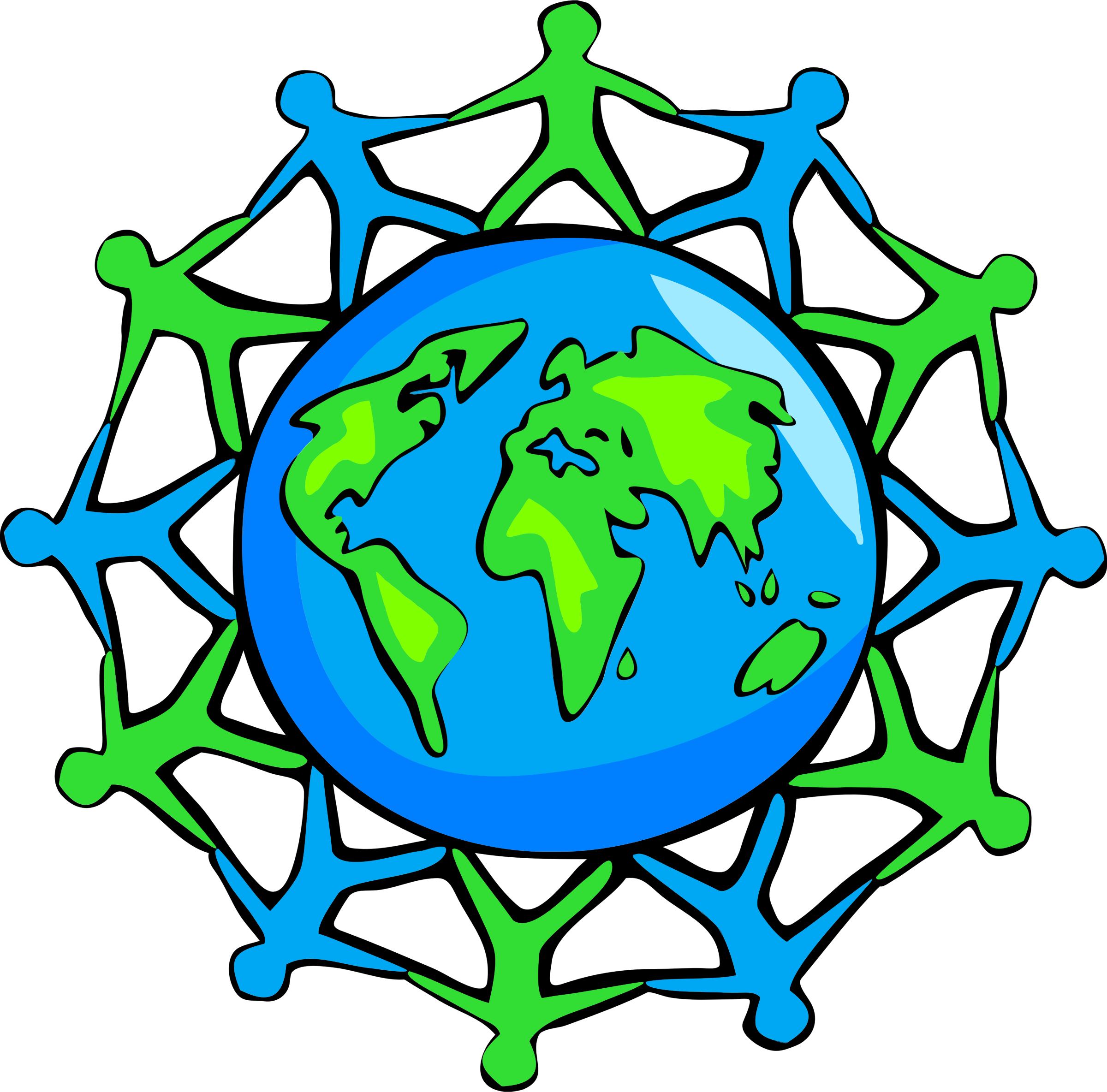 Unity and cooperation big. Clipart world global