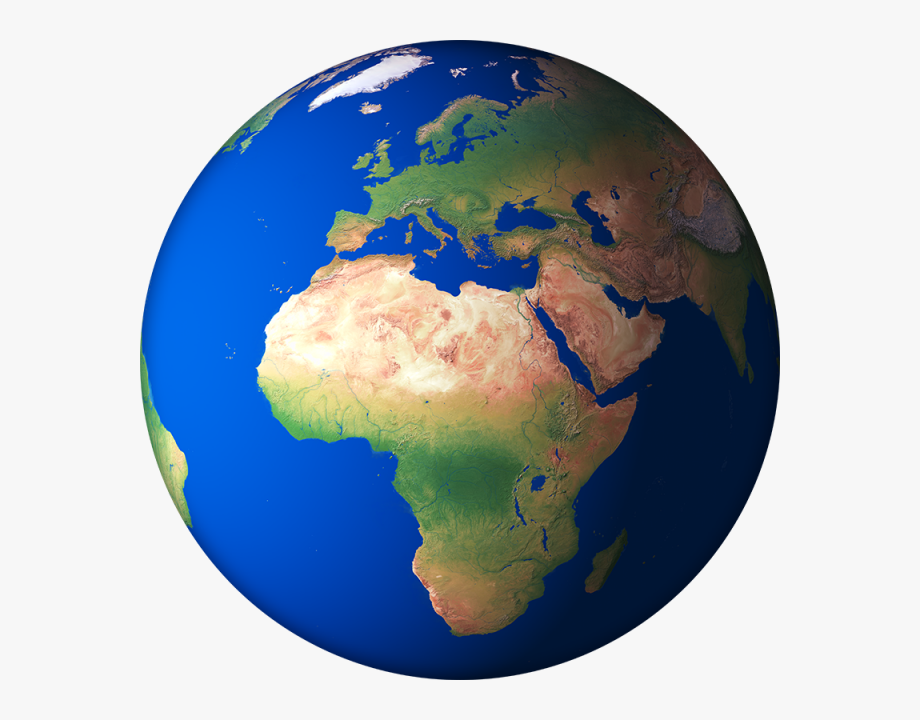 Clipart world globe africa. D render planet png