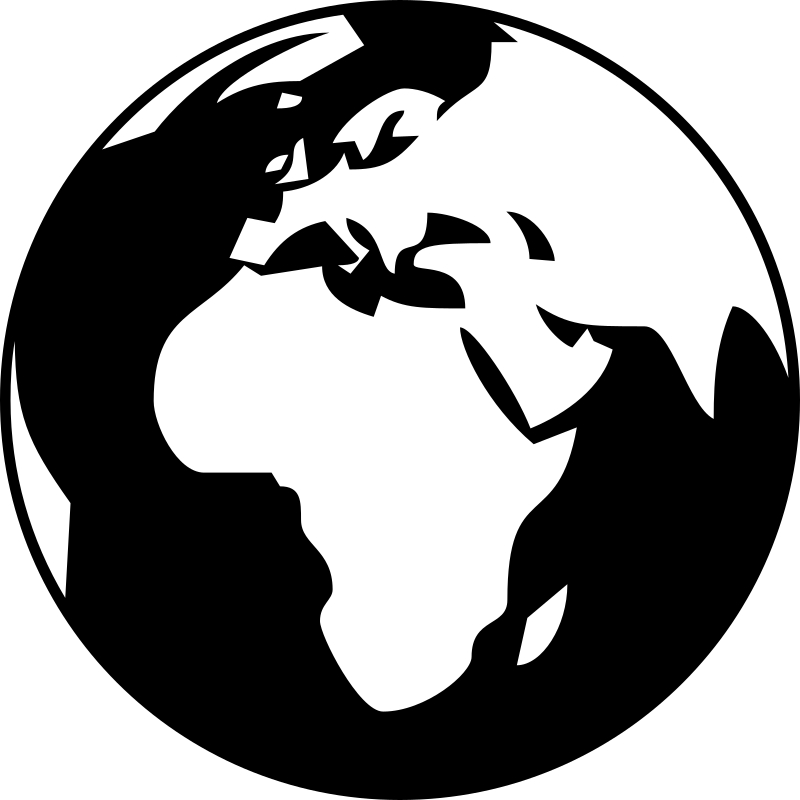 Simple showing asia and. Clipart world globe africa