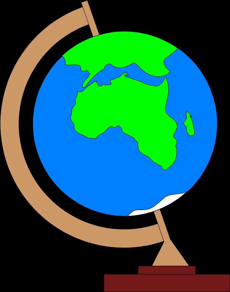Clipart world globe africa. Free stock photo illustration