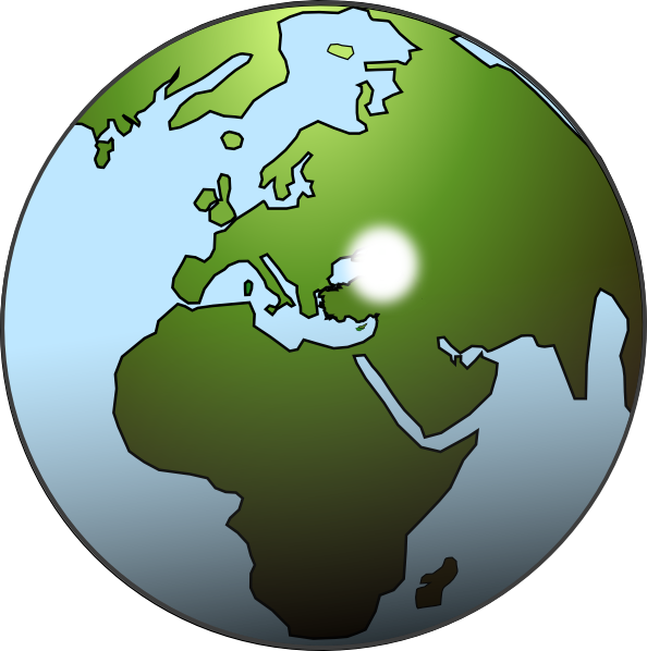 Clipart world globe africa. Middle east and map