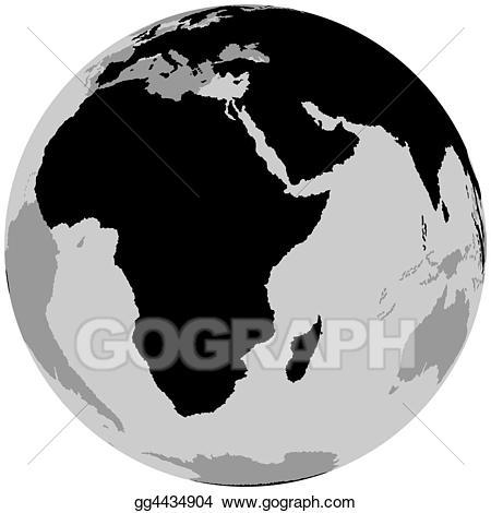 Stock illustration earth clip. Clipart world globe africa