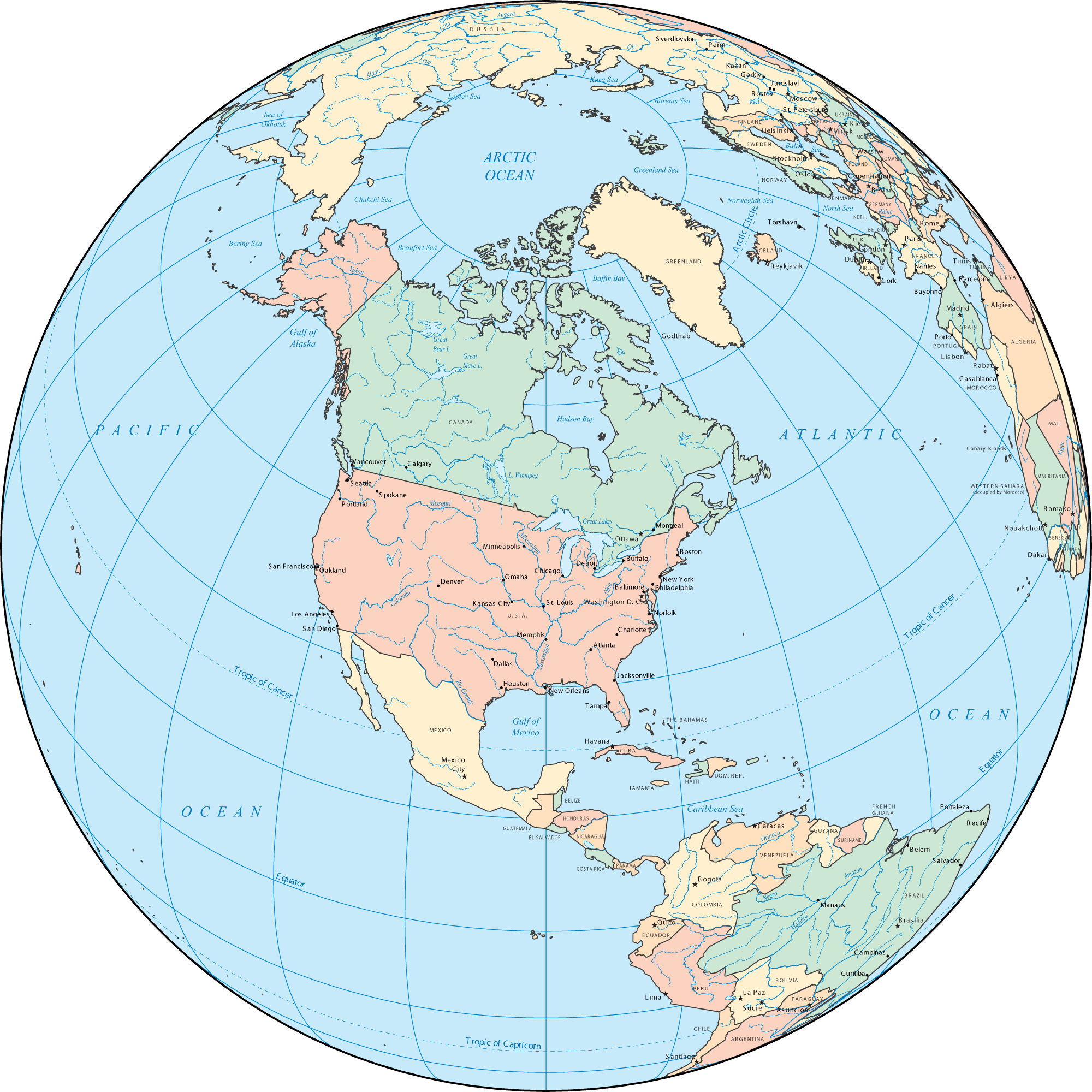Clipart world globe north america. On maps of us