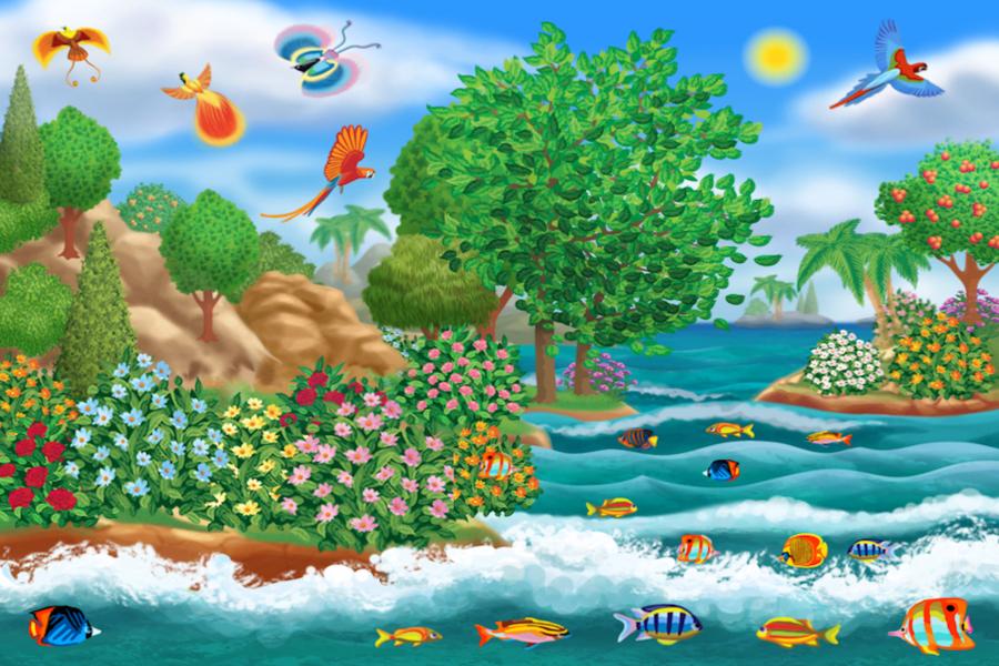 Creation clipart genesis. Nature background world bible