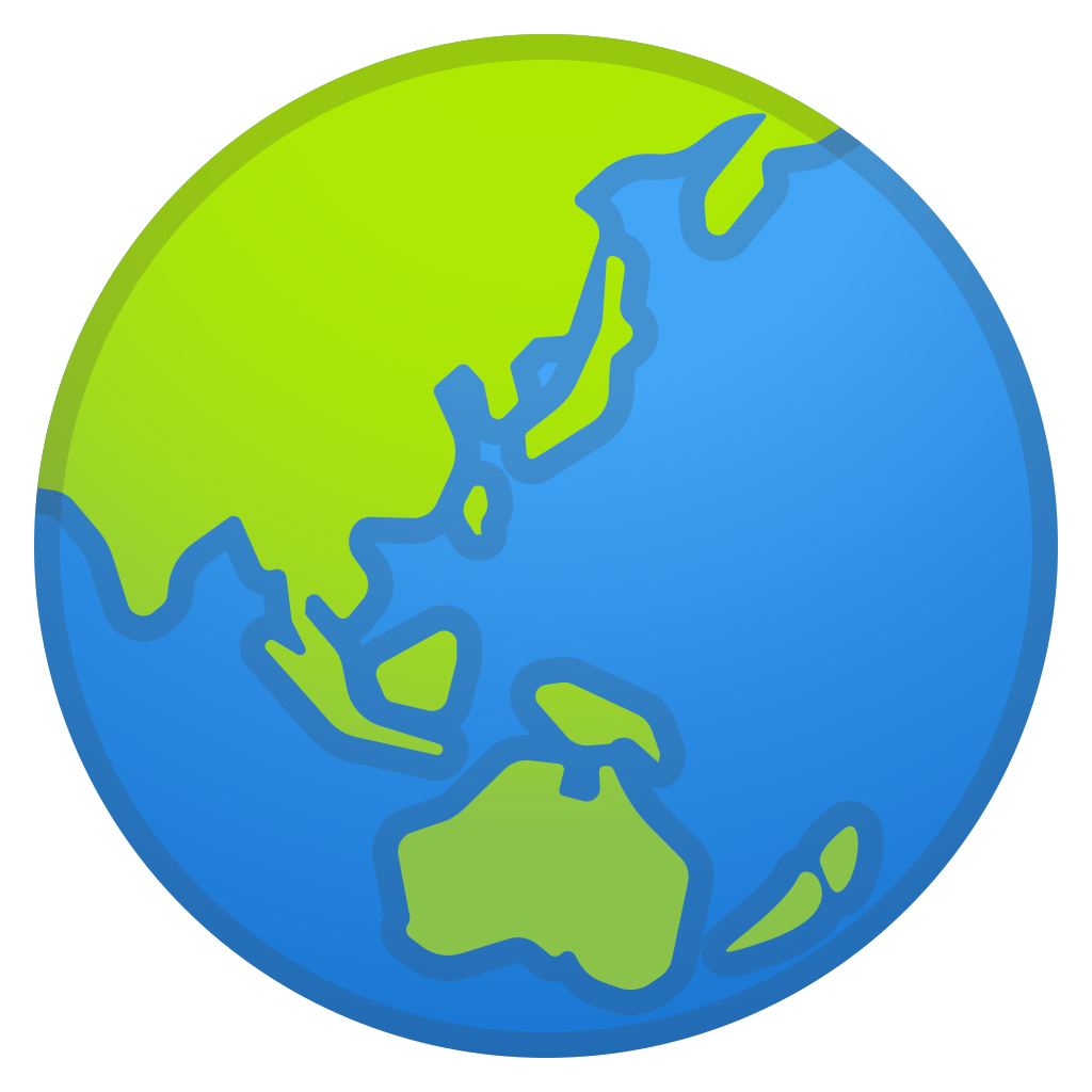 Clipart world google earth. Globe showing asia australia