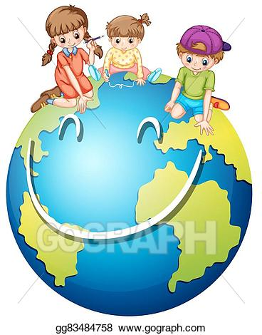 Clipart world happy. Vector stock children and