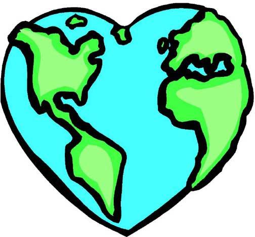 World panda free . Globe clipart heart
