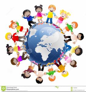 Free of children hands. Clipart world holding hand around world