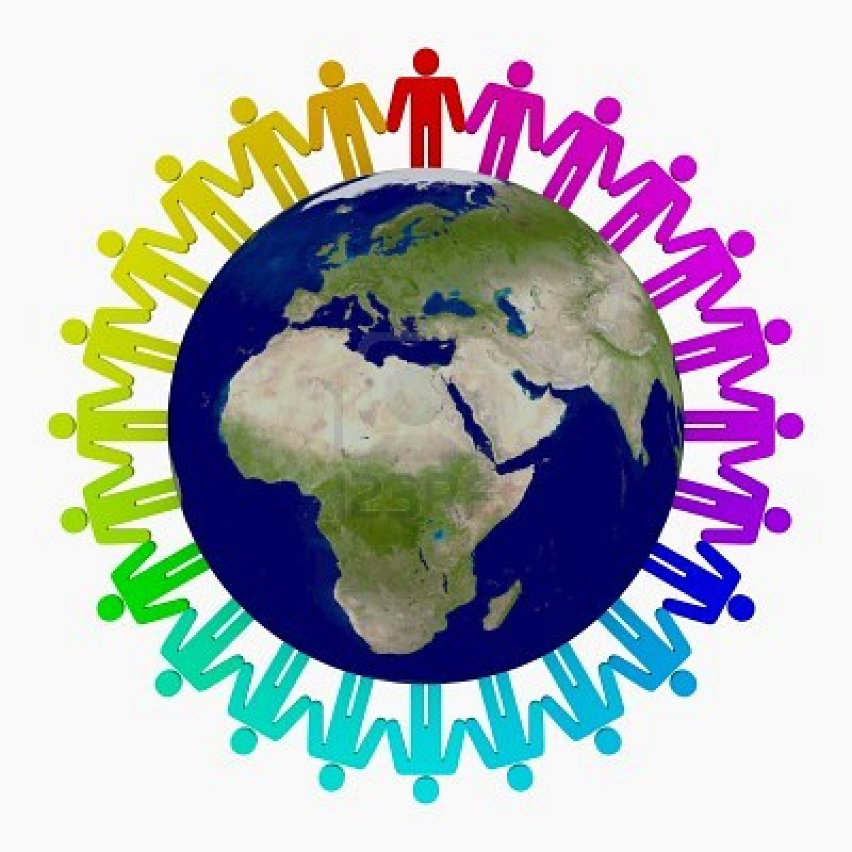 Clipart world holding hand around world. Images for circle of