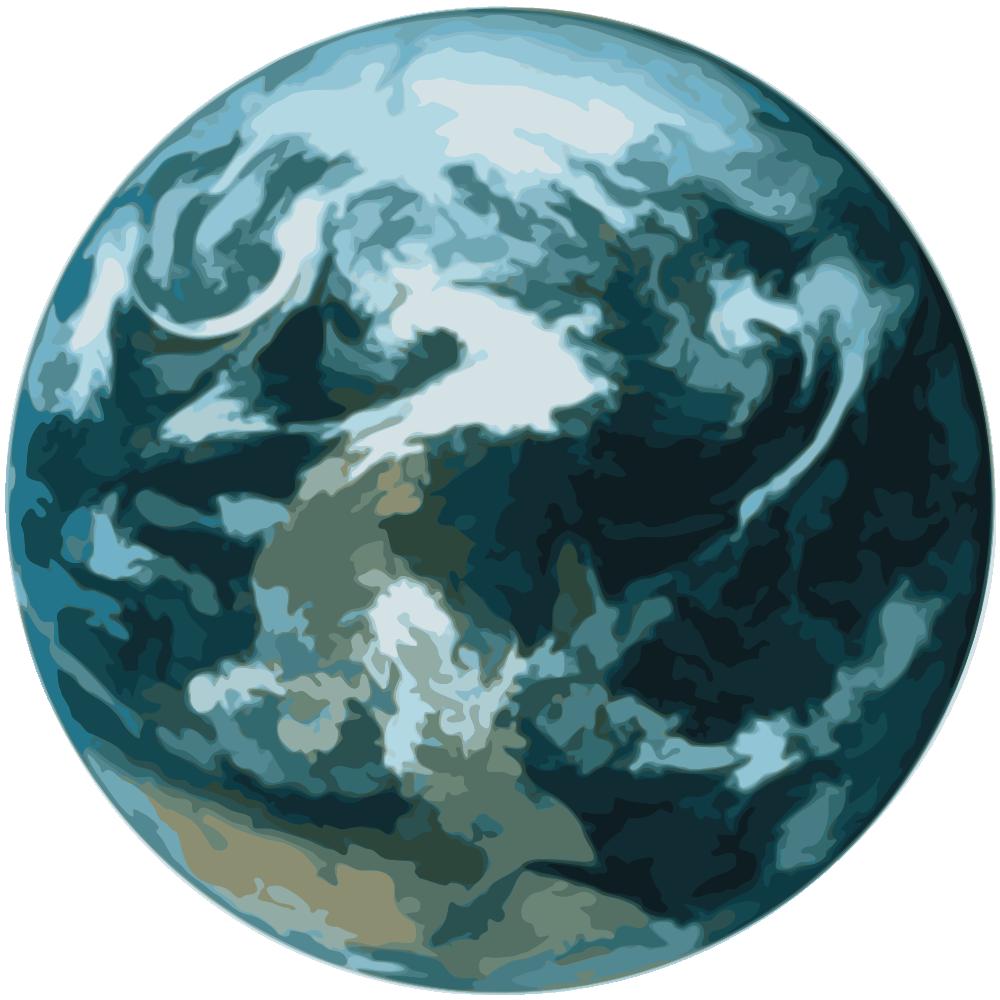 Onlinelabels clip art details. Planet clipart earth half