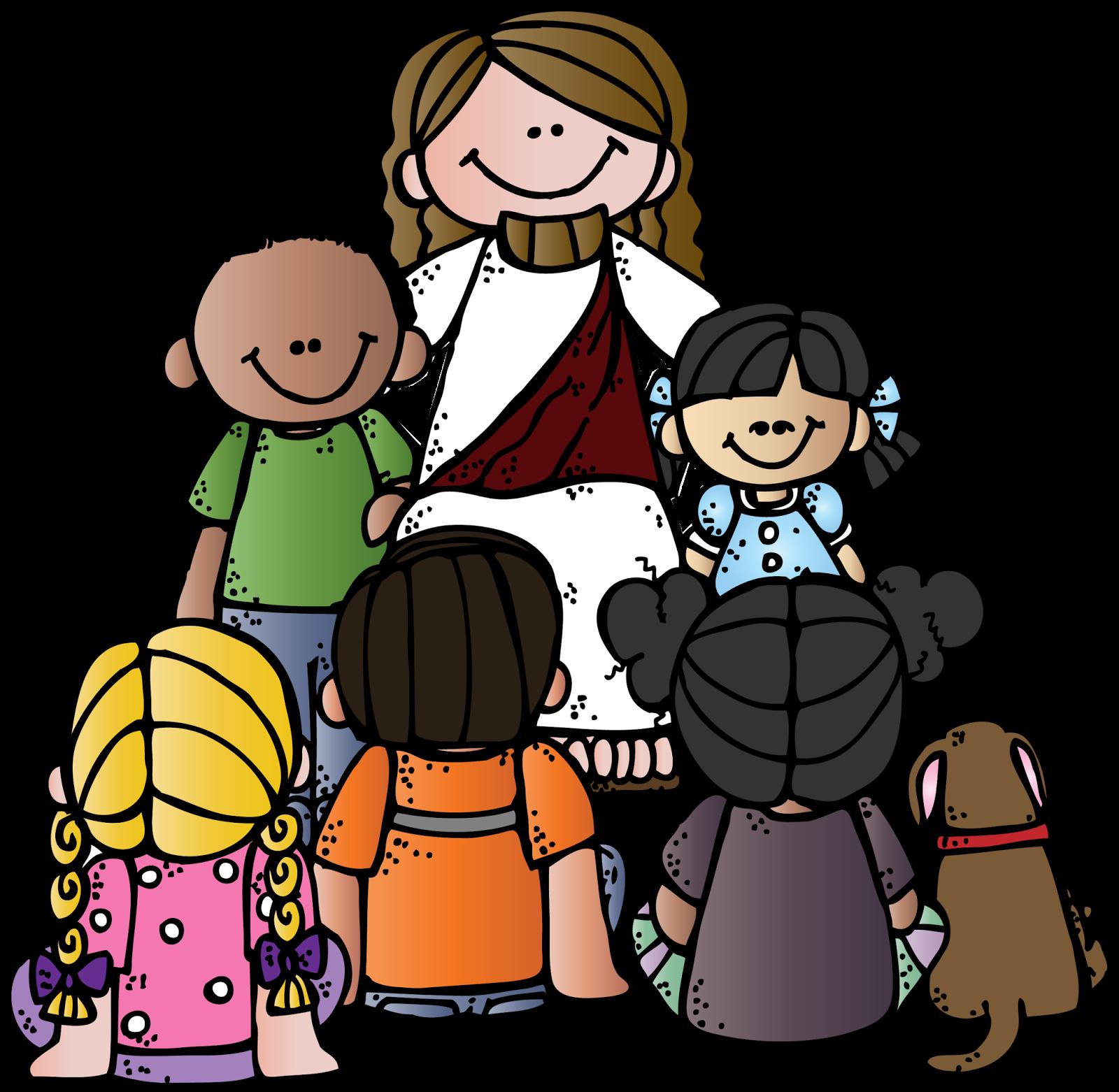 Clipart world jesus loves the little child. Melonheadz lds illustrating general