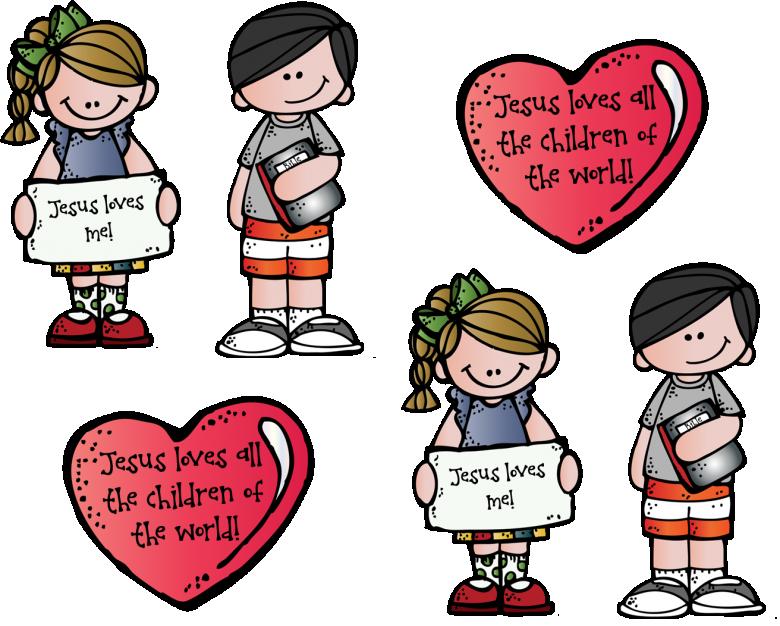 Children craft thumb . Clipart world jesus loves the little child