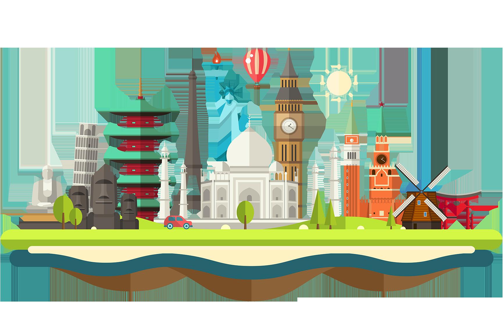 clipart world landmarks