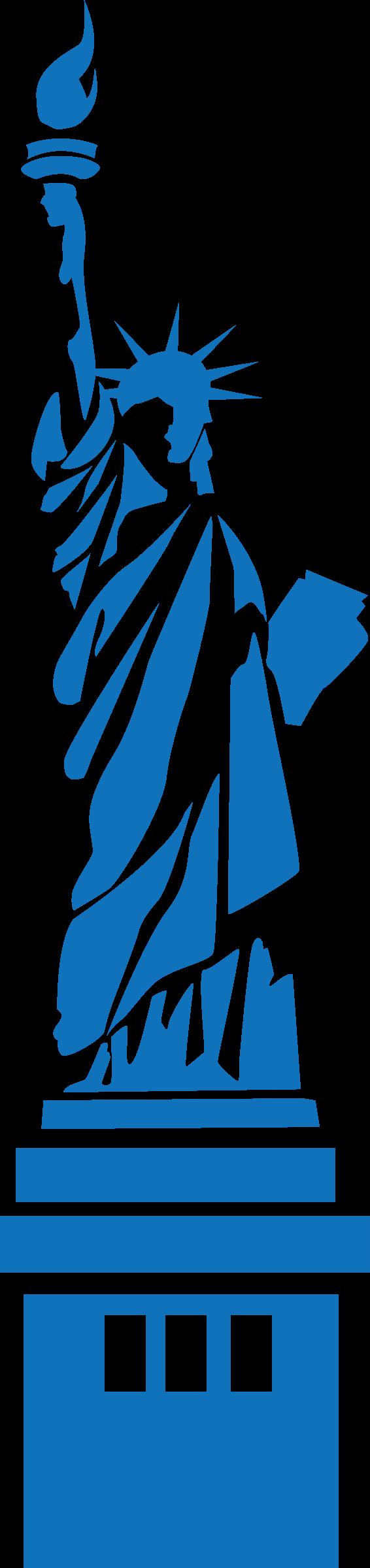 New york statue of. Clipart world landmarks