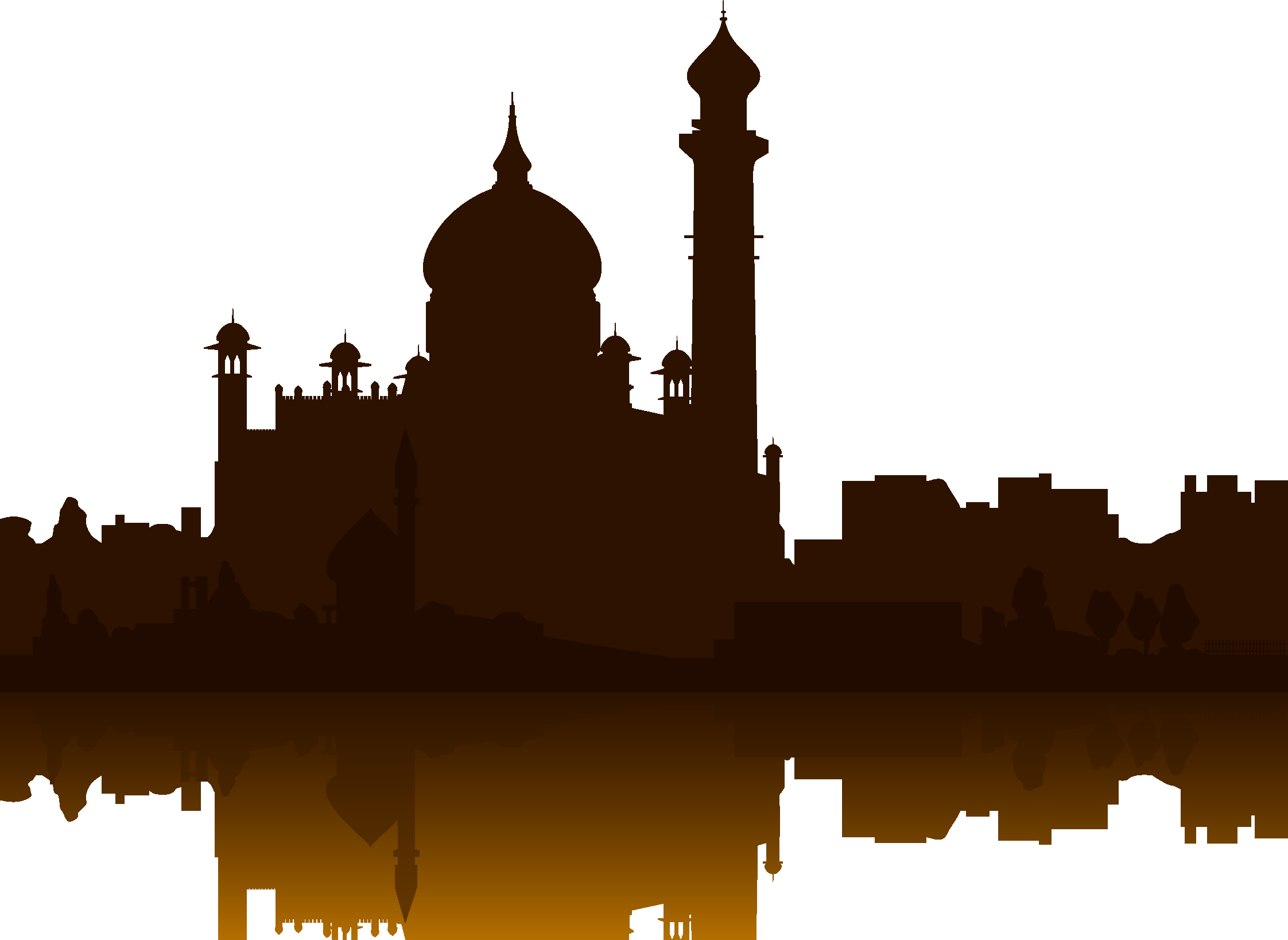 World landmarks at getdrawings. Palace clipart silhouette taj mahal