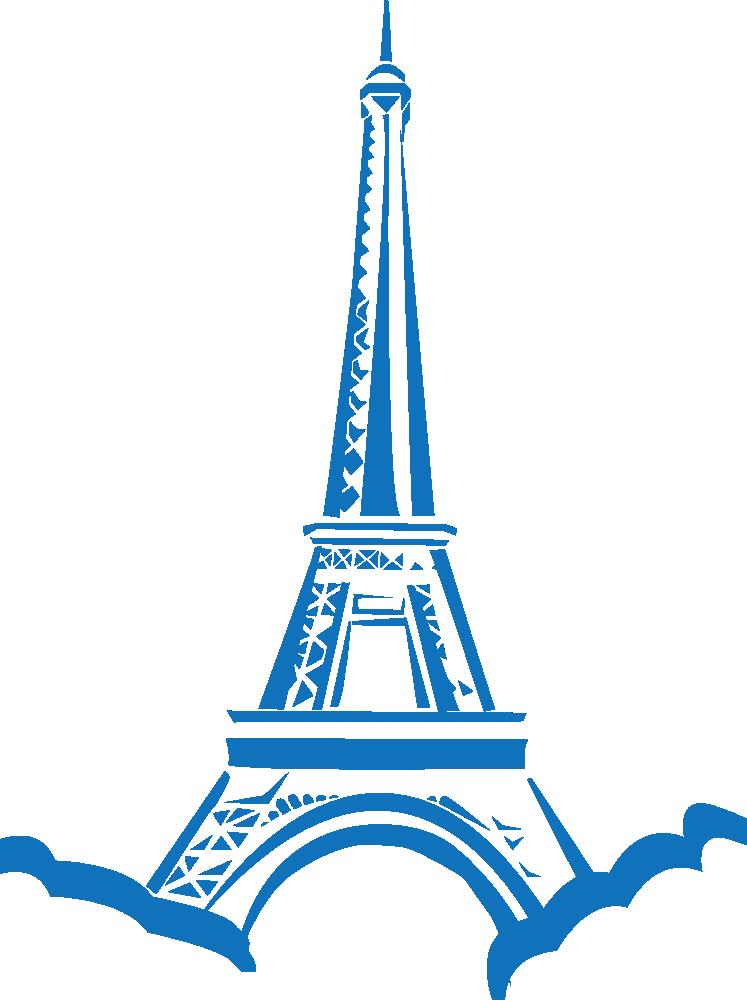 Clipart world landmarks. Onlinelabels clip art eiffel