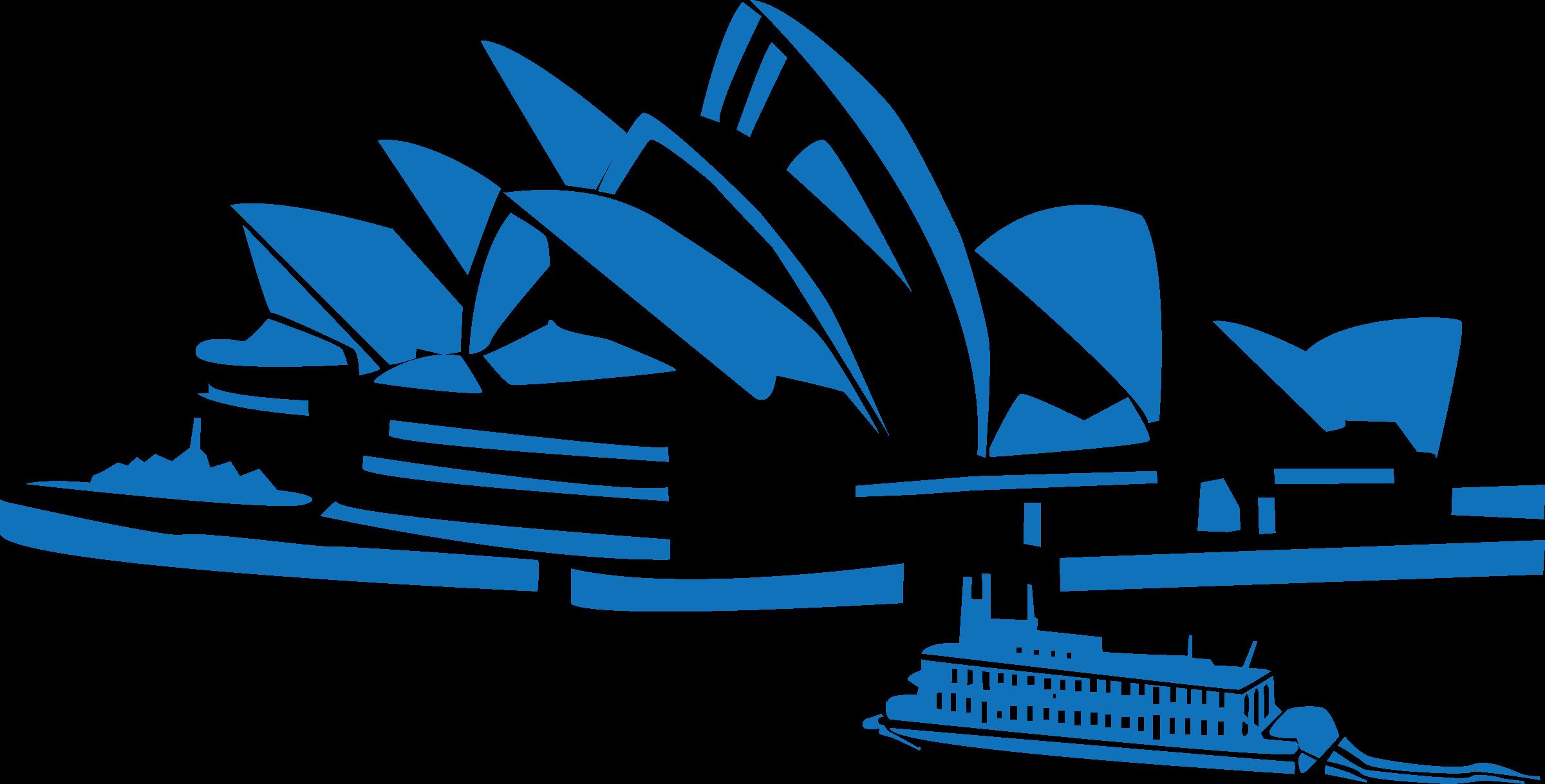 Clipart world landmarks. Sydney opera transparent png
