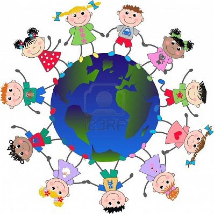 Clipart world multicultural. Children of the free