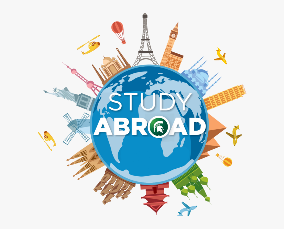 Study clipart global study. Real world abroad logo