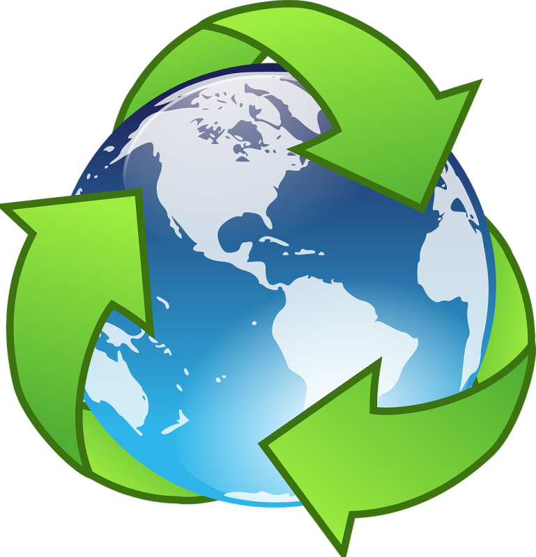 Environmental benefits of water. Clipart world surface earth