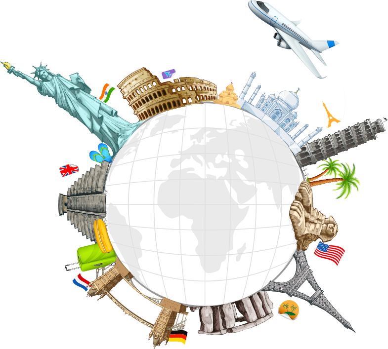 Travel clip art creative. Clipart world surface earth