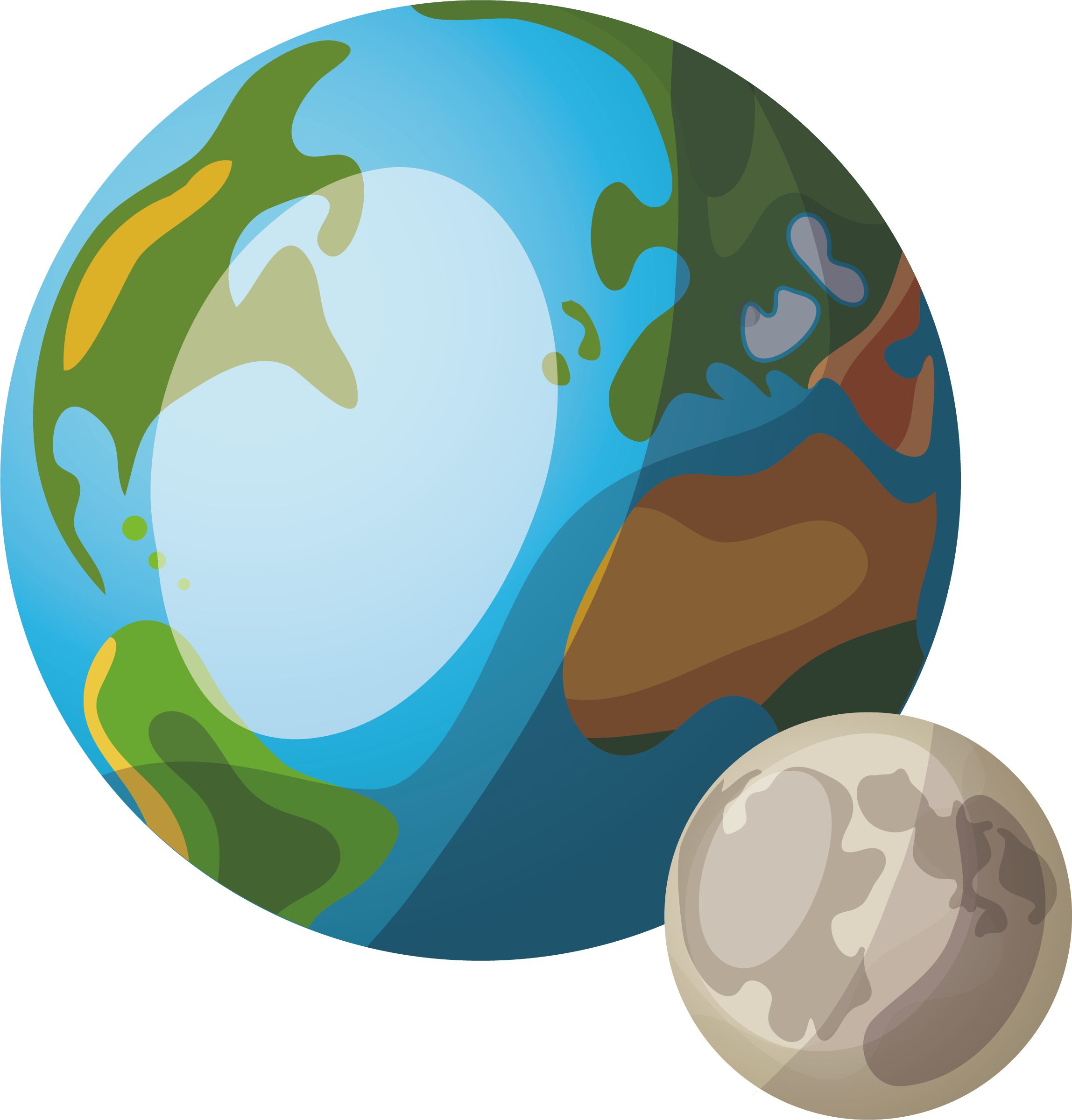 Planets clipart real planet. Earth cartoon two transprent