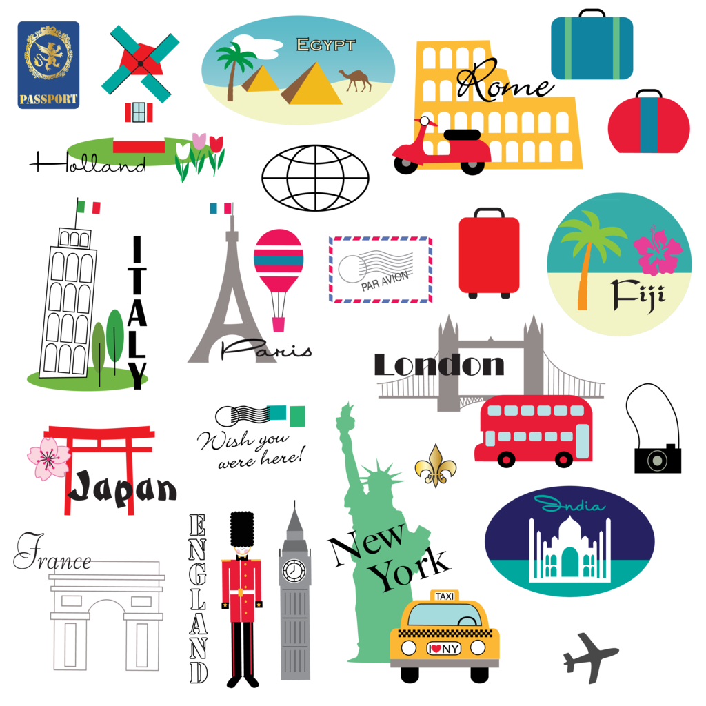 Postcard clipart airmail. World travel mygrafico