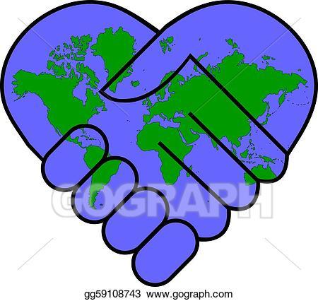 Eps illustration vector gg. Clipart world world peace