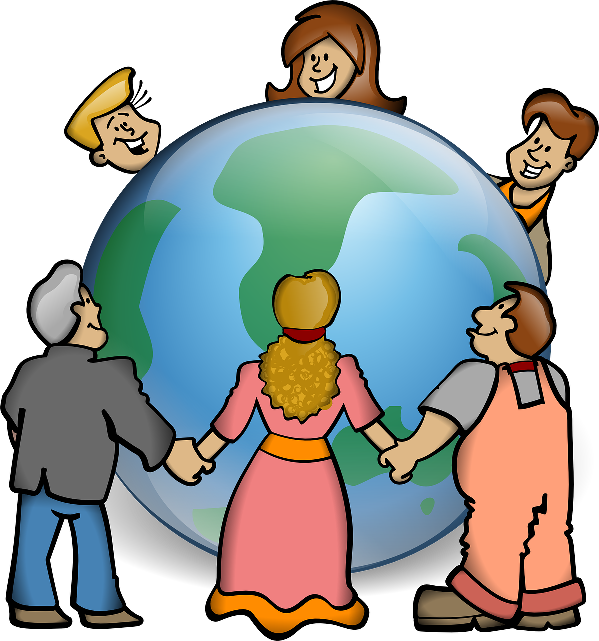 World day earth growth. Humans clipart population global