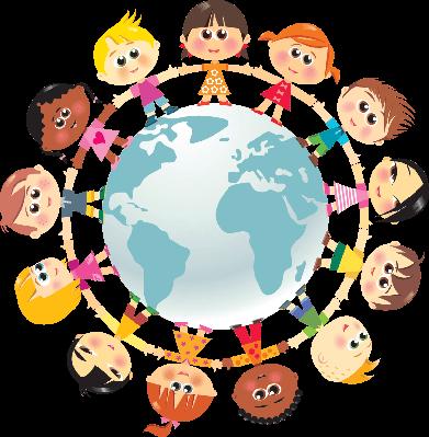 Children in around the. Clipart world world unity