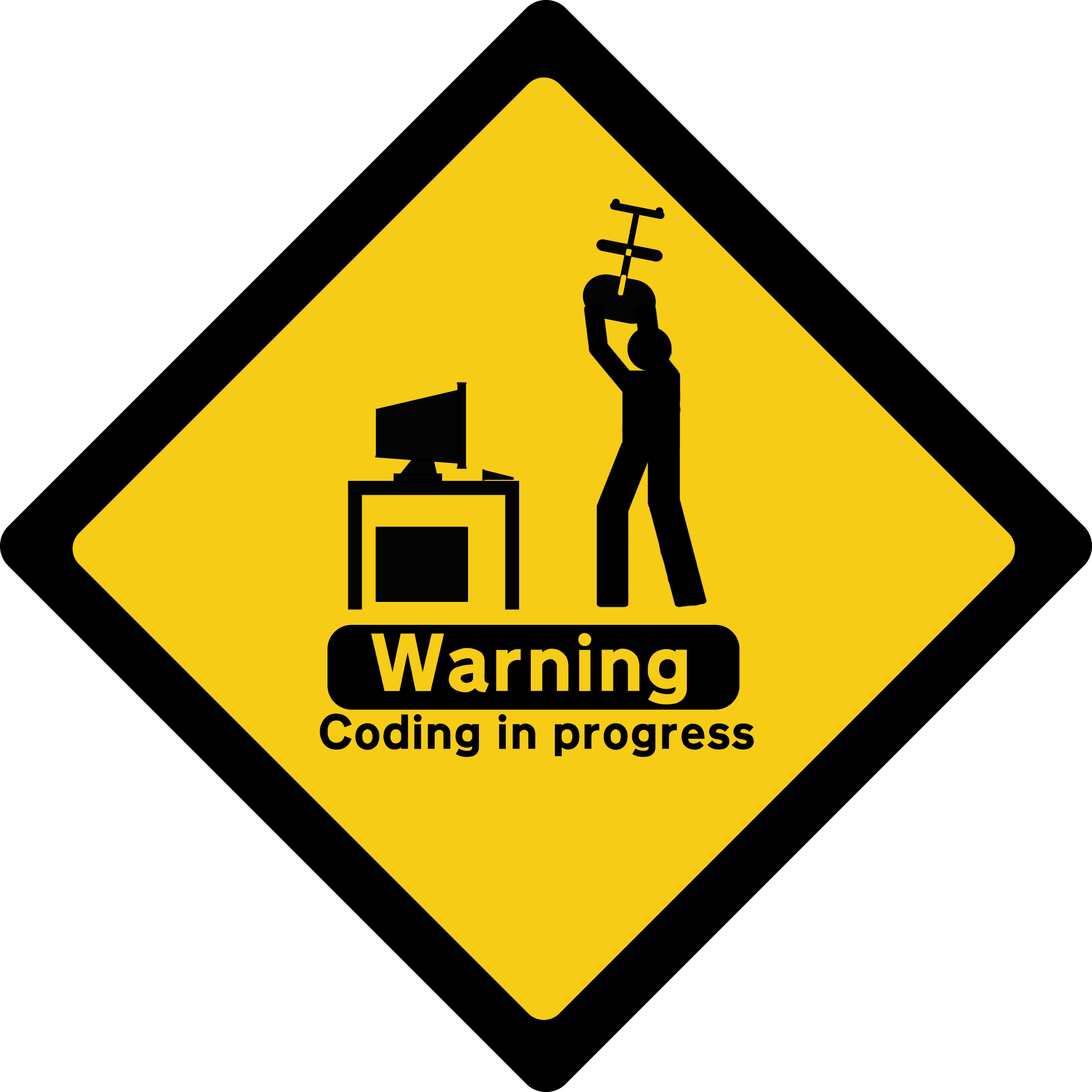 The says quiet at. Writer clipart work sign