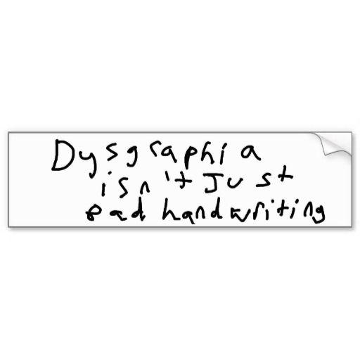 Dysgraphia isn t just. Clipart writing bad handwriting
