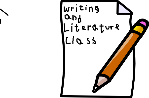 Writing class cover clip. Journal clipart english journal