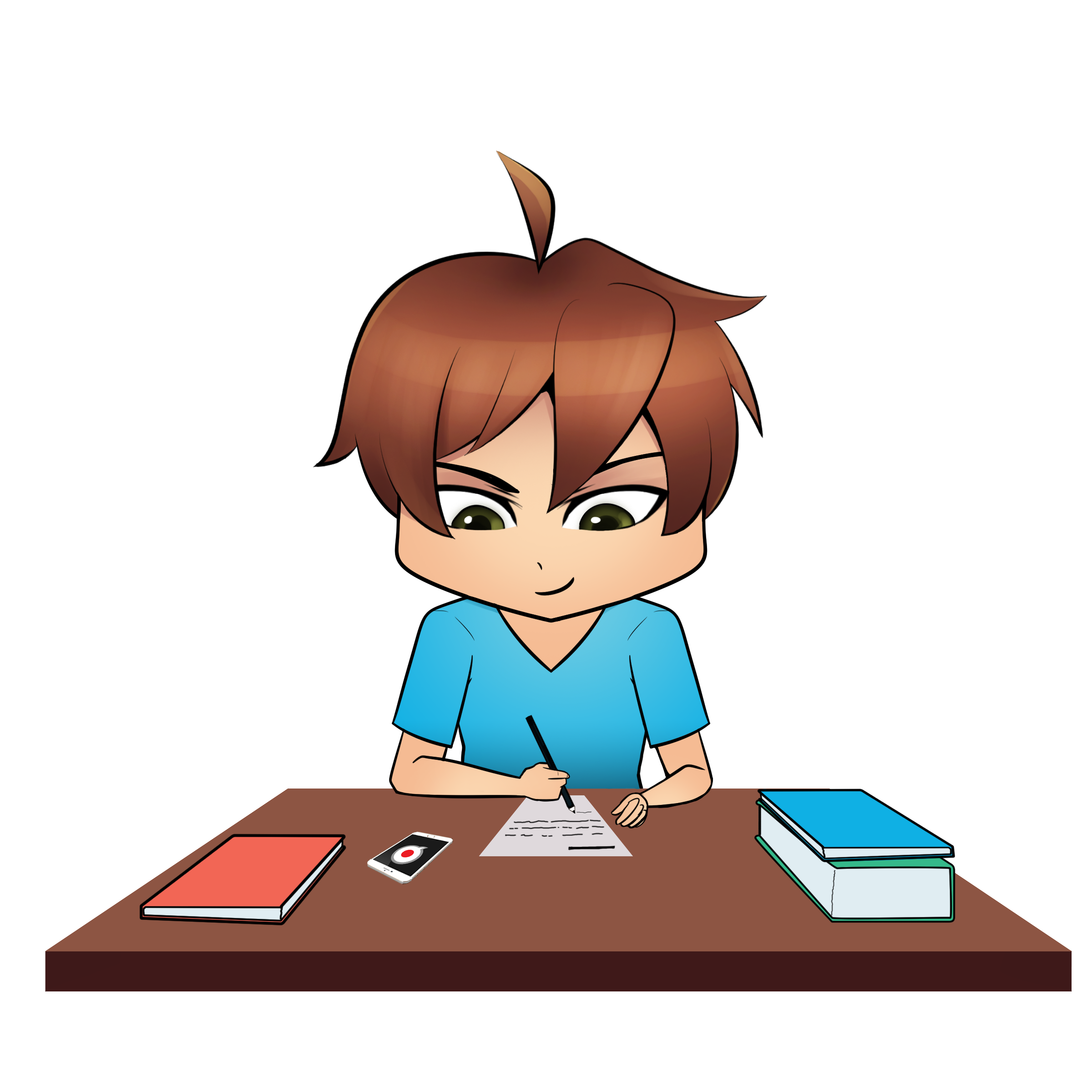 How to successfully pass. Writer clipart easy exam