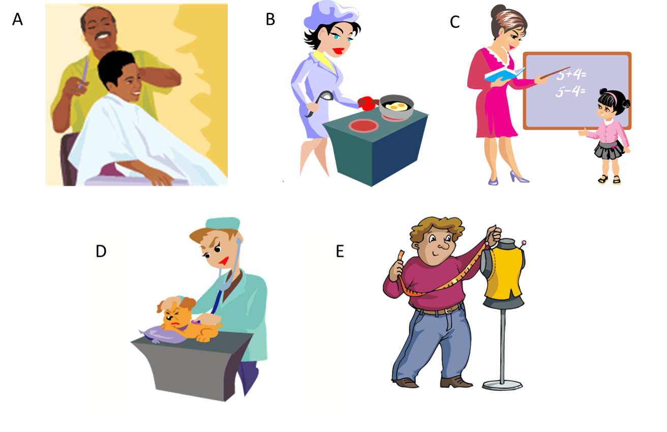 Clipart writing finished work. Esl vocabulary as before