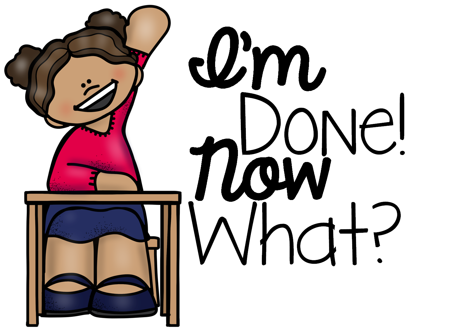 I m done now. Clipart writing finished work