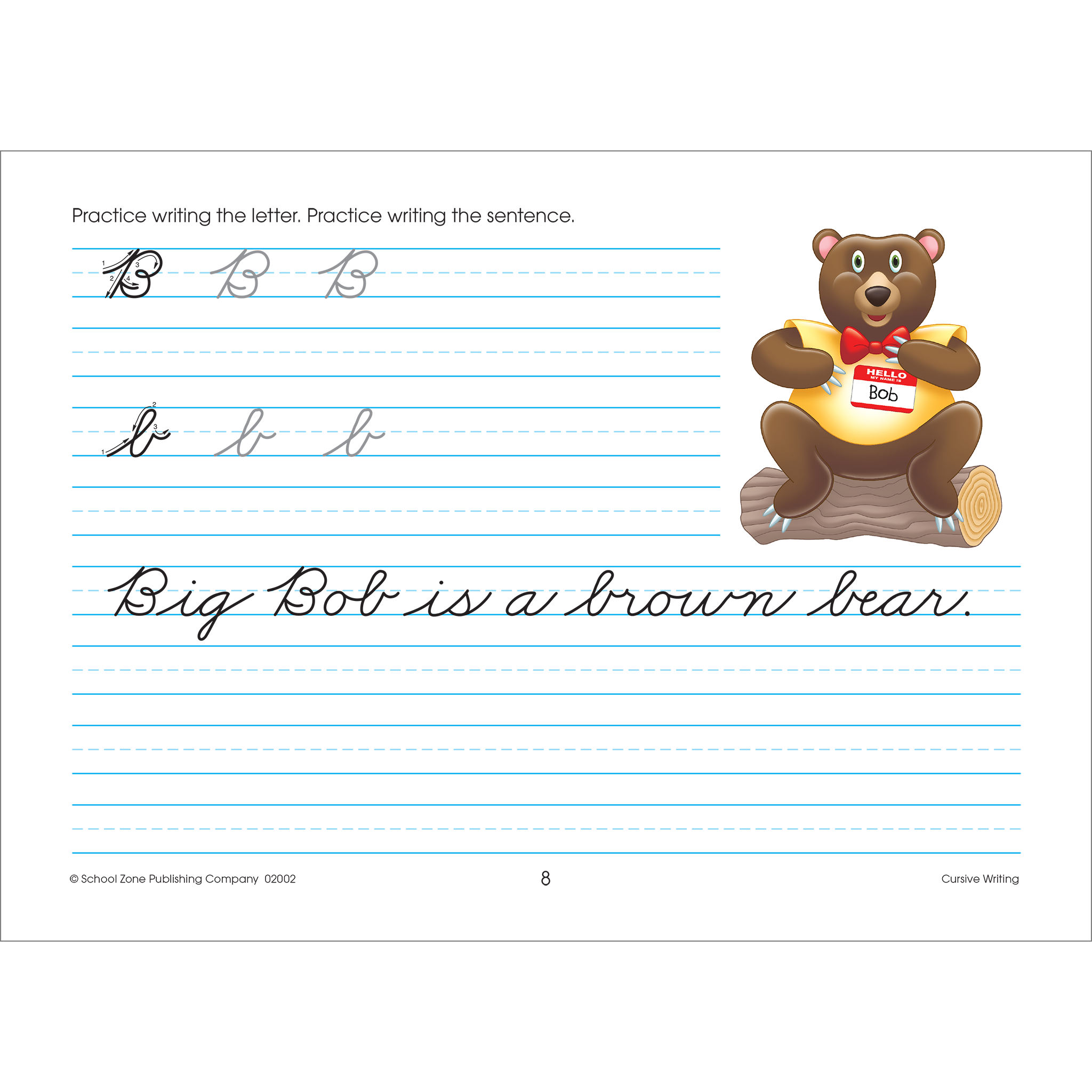 Clipart writing handwriting practice. Cursive workbook shows kids