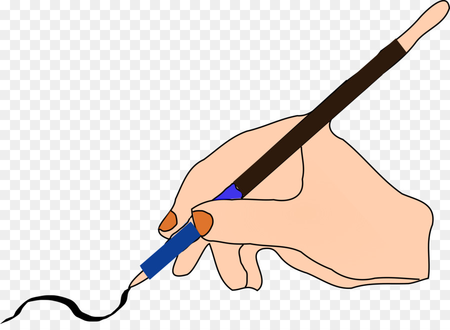 Pencil hand transparent clip. Clipart writing handwriting