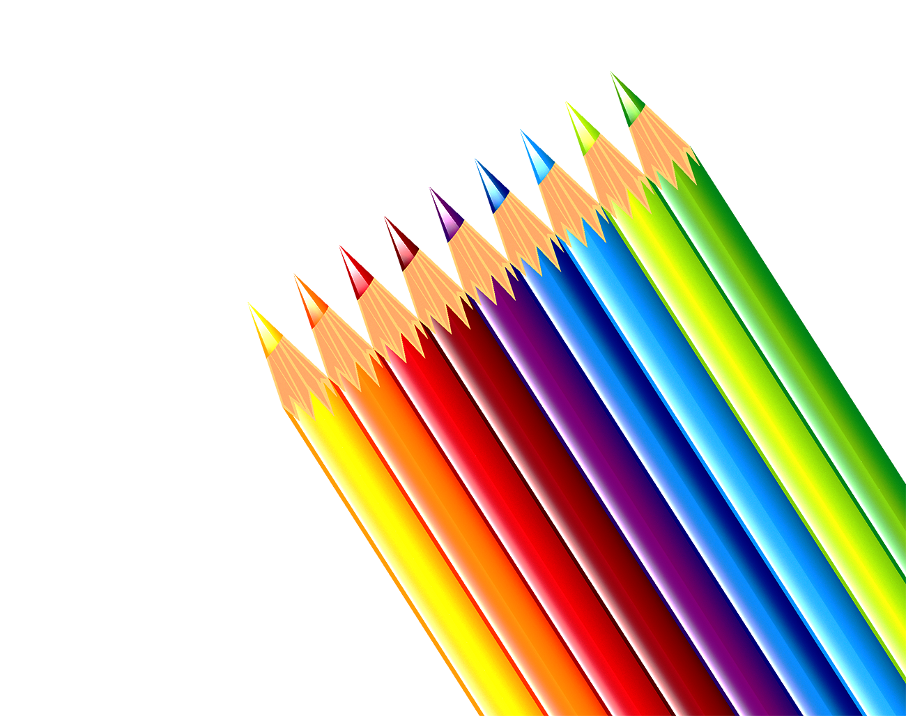 Colored clip art colorful. Clipart writing paper and pencil