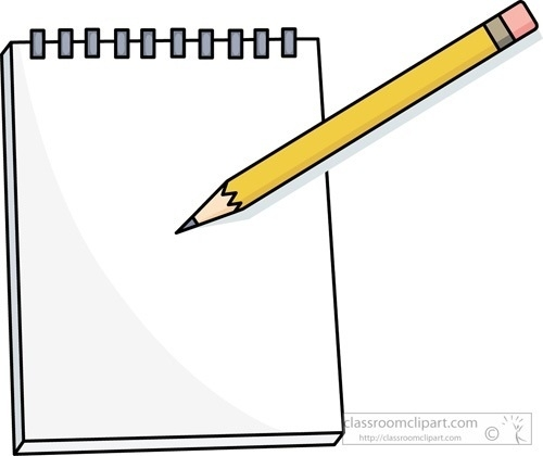 Clipart writing paper and pencil. Free on dumielauxepices for