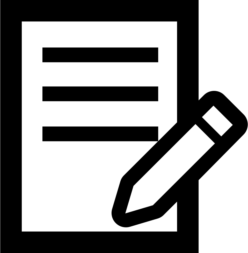 On a svg png. Clipart writing paper and pencil