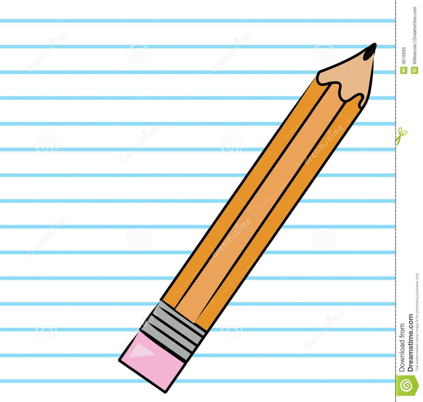 Panda free . Clipart writing paper and pencil