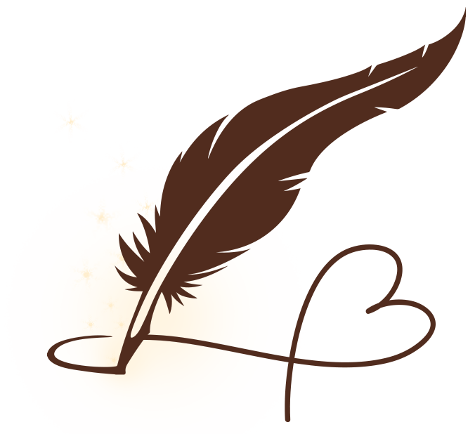 Write your wish candle. Writer clipart quill