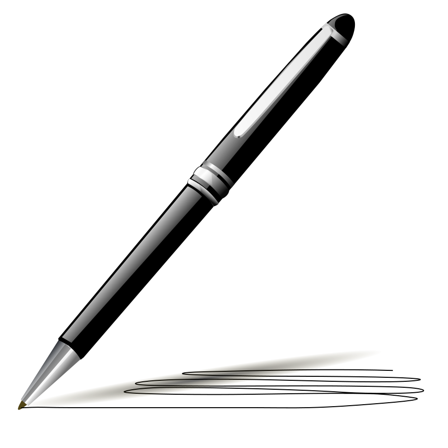 Pen news and in. Clipart writing pencil