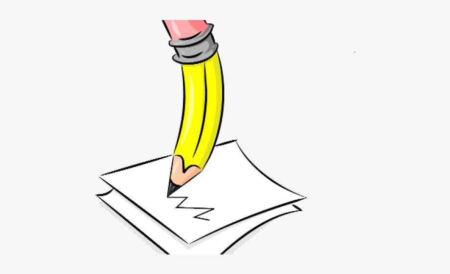 Pencil writing clip art. Handwriting clipart crayon