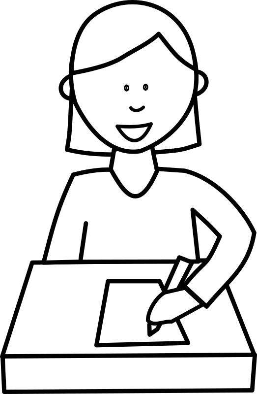 A plea against ghostwriting. Coloring clipart student