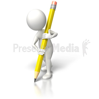 With pencil large education. Clipart writing presentation