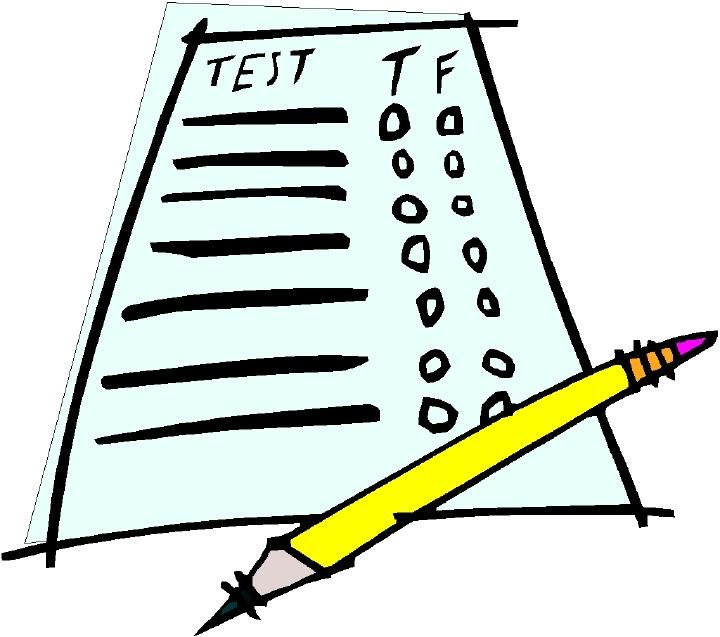 Question paper station . Test clipart sat test