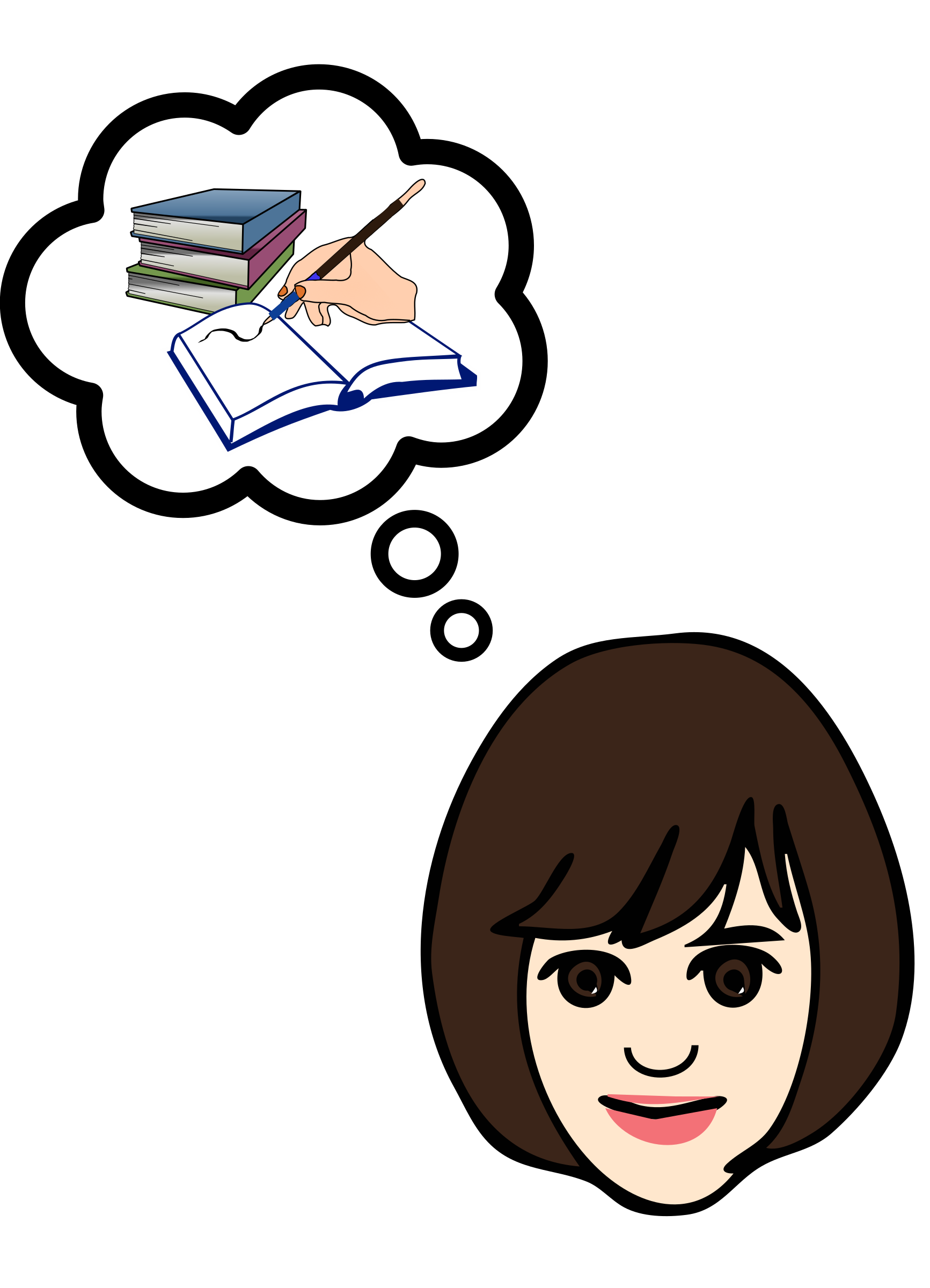 Clipart writing reporter. Thinking about big image