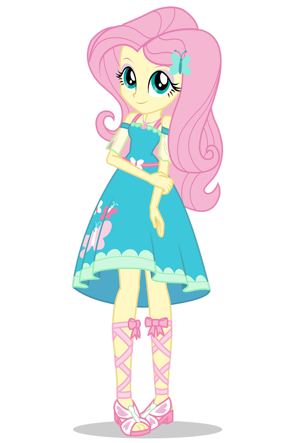 Fluttershy my little pony. Shy clipart pink girl